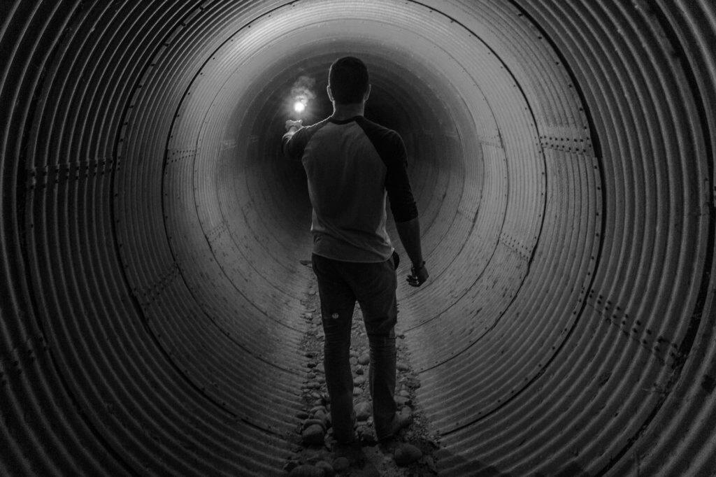 Tunnel Mensch